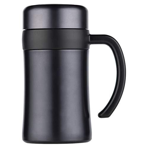 Isolierbecher mit Griff Teetasse Filter Business Edelstahl Cup Herren Office Cup -
