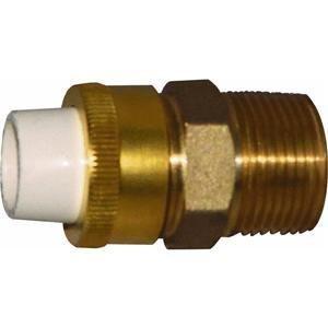 Low Lead CPVC Slip To Brass MPT Transition Union, 1/2 x 3/4 by Raingo (Slip Cpvc)