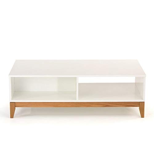Paris Prix - Table Basse Design Blanco 120cm Blanc & Chêne