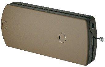 Klappenbeschlag Möbel Klappenhalter mit Seilzug | Modell B - 60 N | Abdeckkappen: braun | Seilzug-Beschlag für Klappengewicht bis max. 9 kg | Möbelbeschläge von GedoTec®