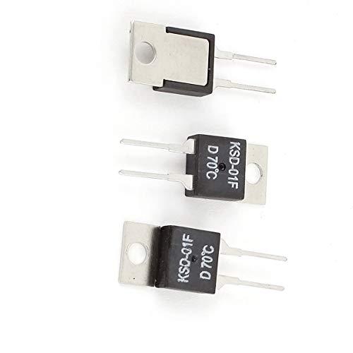 Aexit 3 Pcs KSD-01F 70 Celsius Interruptor de termostato bimetálico (model: A9282OIV-7164BF)...