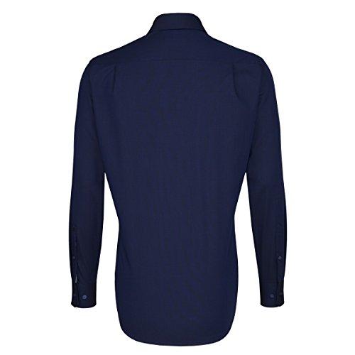 Seidensticker - Herren Hemd, Bügelfrei, Modern, Schwarze Rose mit Button-down Kragen in Orange in verschiedenen Farben (01.112056) Dunkelblau(18)