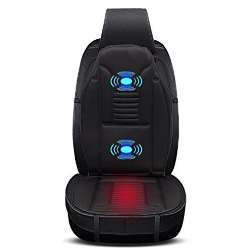 EUGAD 0003JRD Sitzheizung Auto mit Massage für Rücken Heizung für Sitz Vordersitz Überhitzungsschutz Schwarz 97 x 48 cm