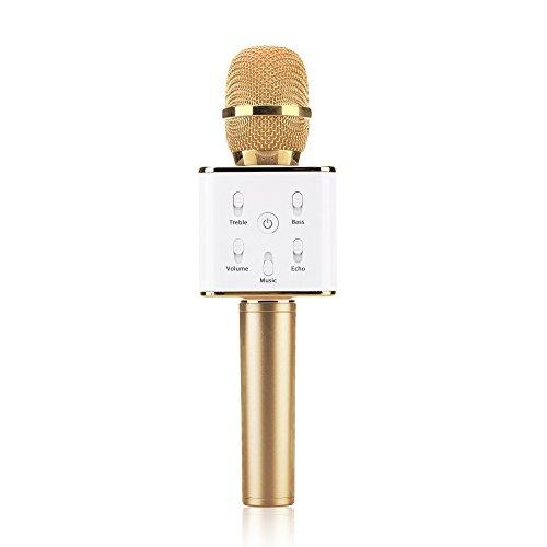 JTD Micrófono Inalámbricos Q7 Karaoke Speaker KTV Microphone Portát