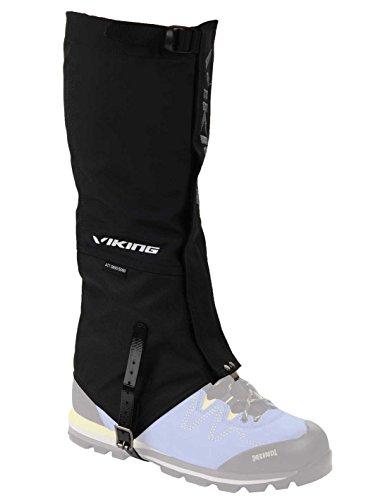 viking Gamaschen Damen und Herren wasserdicht Schneeschutz Regenschutz hoch - ideal für Outdoor und Trekking, sehr robust - 7404, 09 Schwarz, L