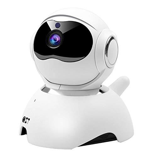 QZT Telecamera IP 1080P, Telecamera Sorveglianza Wifi con Visione Notturna Audio Bidirezionale Motion Detection, Telecamera Interno Casa per Bambini Cani