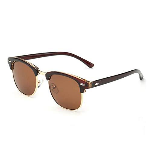 TIANKON Halbrandlose polarisierte Sonnenbrille Männer Frauen Vintage Sonnenbrille Half Frame Driving Eyewear,C09