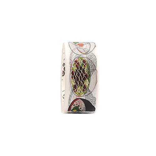 tro Kleidung Essen Muster Masking Tape Deko Klebeband für DIY Handwerk Craft Scrapbook Dekoration Geschenkdekoration (Nudel) ()