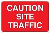 Verboten Hinweisschild: Vorsicht Seite Traffic-nur Text (Größe: 300x 200Material: 3Heavy Duty hart-PVC-Zeichen)