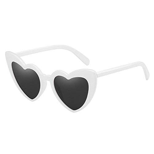 061038d0b4 Hzjundasi Clásico Ojo de gato Retro Estilo Amor corazon Conformado Gafas de  sol Salirse los ojos