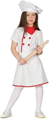 Mädchen Chefkoch Koch Welttag des buches-tage-woche Job Uniform Beruf Kostüm Kleid Outfit 5-12 Jahre - 7-9 - Job-kostüm