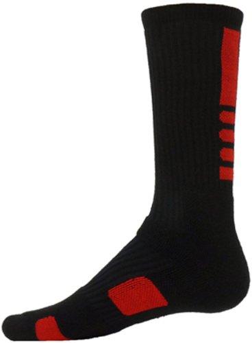 Red Lion Schwarze Socken (Red Lion Erwachsene Legend Athletic Crew Socken Gr. Medium, schwarz / rot)