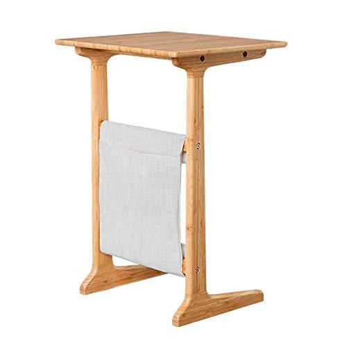 HYXL Portable Beistelltisch Schreibtisch,Rolling Laptop Desk Sofa Beistelltisch Laptop-Desk Mit Aufbewahrungstasche Für Das Bett Sofa,Kleiner Couchtisch Multifunktionsbambus-holzbetttisch-Bambus - Standard-krankenhaus-bett
