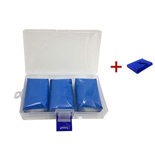 Nettoyage Voiture Pâte Modeler Argile Lavage Voiture Camion Moto - Décontamination Restore Car Paint Nettoyage Boue Bleue Nettoyeur Voiture - Réutilisable avec Serviette 100G 3 Pcs