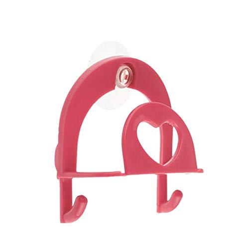 TAOtTAO Sponge Holder Suction Netter Schwamm Halter Saugnapf Bequem Home Küche Halter Werkzeuge Gadget Decor (Pink)