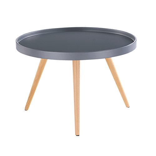 Buy white grey tray tables coffee side tables with solid for Coffee tables 45cm wide