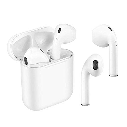 Bluetooth Headphones, Wireless Bluetooth 4.1 In-Ear Headphones Earbuds Wireless Stereo In-Ear Hands-Free Mic Built-in for Airpods Android/iPhone (White)