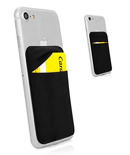 MyGadget Funda Cartera con 1 Bolsillo para Móvil Smartphone - Adhesiva Universal - Suave Estuche para Tarjetas de Crédito Bloqueo RFID - NegroPORTA TARJETAS - Reemplaza su billetera, siendo la adición ideal a cualquier teléfono.MULTIUSOS - Puede ubi...