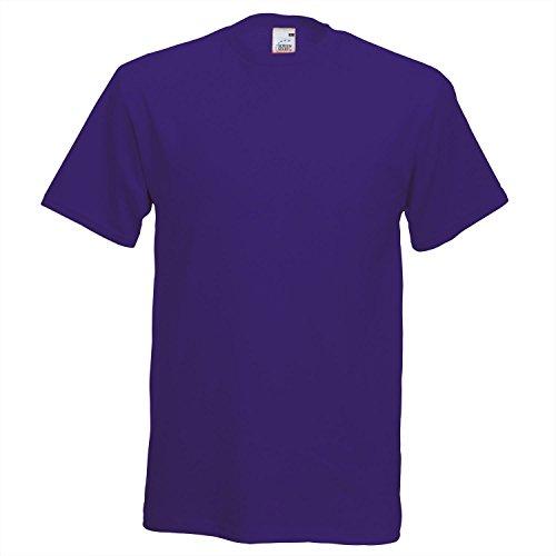 Fruit of the Loom Herren T-Shirt Purple