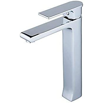 Tall Counter Top Basin Mixer Tap Curved Bathroom Sink Tap Designer Style,Solid Brass,Chrome XINYU XY3001H