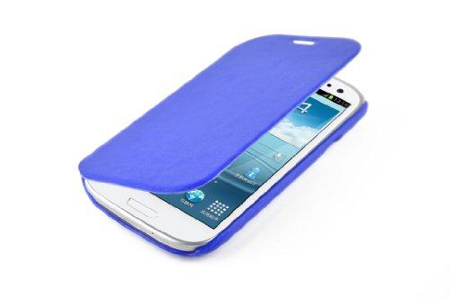 JAMMYLIZARD   Luxuriös Flip Ledertasche Hülle für iPhone 5 / 5s und iPhone SE, Rotbraun BLAU