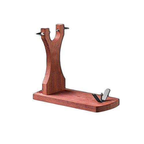 Soporte Jamonero con excelente calidad, madera,marrón, medidas aproximadas 38 x 32 x 16,5 cm.