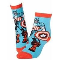 CR115903MAR Marvel, Capitan America, 39/42, colore: rosso/blu, taglia: 6-8-Calze, taglia: M