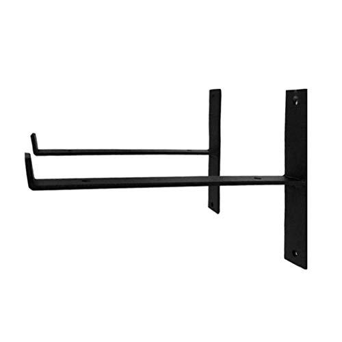 GETZ GSYO brackets T-Lippe Regalhalterungen, industrielle Regal Winkel Klammern für rustikale Regal, Eisen Halterung, Gerüst Board, Wand montiert Vintage Regale 2Pcs (T-Lippe) -