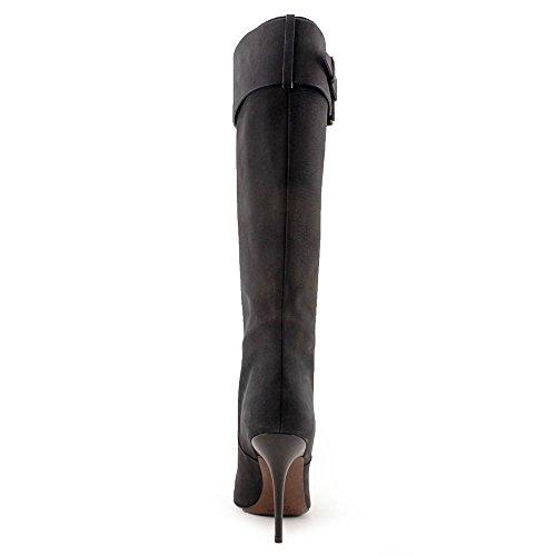 Calvin Klein Kalen Femmes Cuir Botte Black