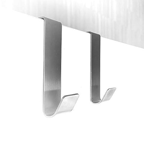 2 Stk. Türhänger Haken für Schrank - Tür aus Edelstahl