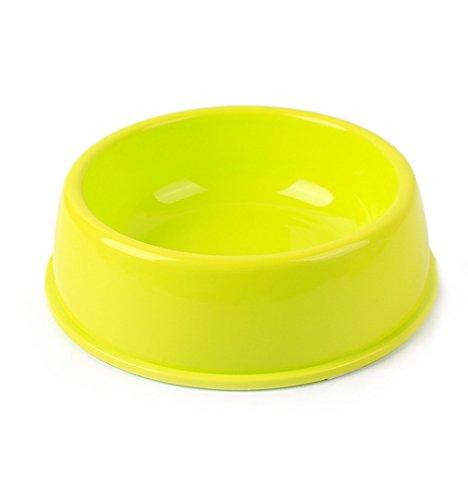 UMALL Multi-Size Fressnapf für Hunde Futternapf Kunststoffnapf Round Pets Napf Plastik Gesunde Umweltfreundlich Hundeschüssel (Durchmesser 13cm, Grün)