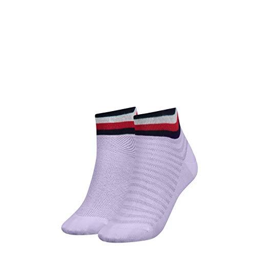 Tommy Hilfiger Damen Socken TH Women Resort Short 2P, 2er Pack, Violett (Pink Combo 174), 35/38