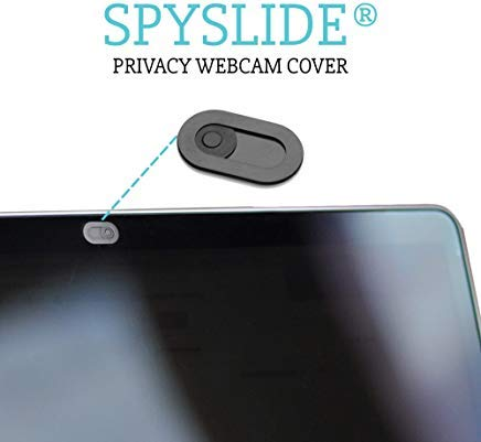 Das Original Spyslide Premium Webcam Cover - Ultra dünn (0,023 Zoll) - Passend für Laptops, MacBook, Tablets & Smartphones - 100{d4f28ea5b9f40e56a0b15fda4fe1b7b0e8b802d125cefd8d04ce8803bd927372} Kratzfest - aus Edelstahl, 3 Pack, schwarz