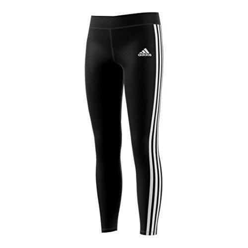 adidas Mädchen YG Gear Up 3-Streifen Tights, Black/White, 164
