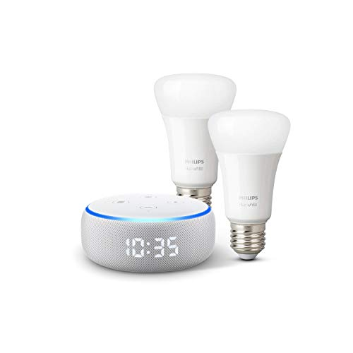 Echo Dot (New) + 2 Philips Hue White