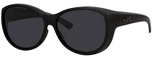 Euro Optics REVEX Sonnenbrille für Brillenträger CAT 3 M3 schwarz polarisierte Überbrille