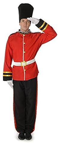Königliche Schutz Herren Britisch London Uniform Erwachsene Kostüm (XL Biz