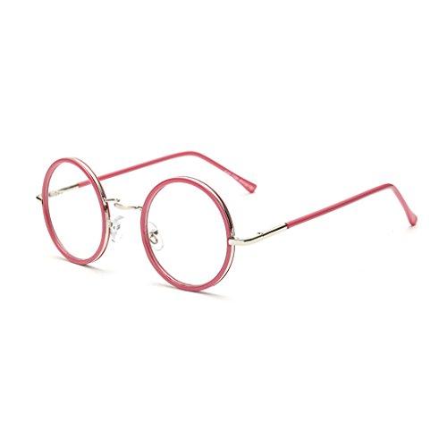 Idyandyans Runde Glas-Rahmen Damen Herren Metall Brillen Can Ausgerüstet Objektiv