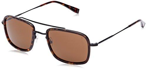 John Varvatos V789 Rechteckig Sonnenbrille, Brown (Tortoise)