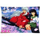 Japan Anime Inuyasha Custom Pillowcase/Copricuscini e federe Pillow Cover Pillowslip Best Bed Sheets Pillow case/Copricuscini e federe Two Sides Printed Standard Size 20x30 Inch
