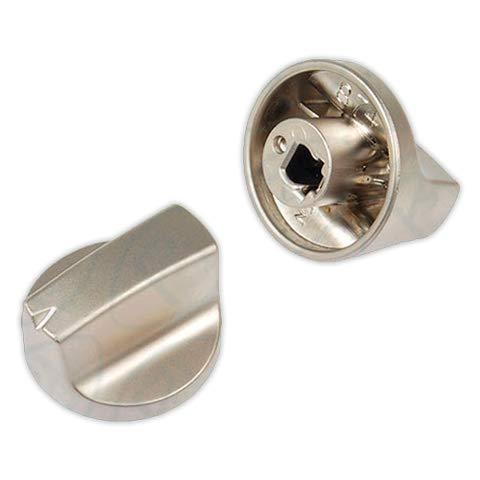 DOJA Industrial | Mando para cocinas y encimera TEKA 6x32 mm Silver | Eje 6 mm | Metalizado | Mando...