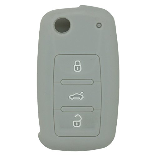 fassport-silicone-cover-skin-jacket-for-volkswagen-skoda-seat-3-button-flip-remote-key-cv2801-grey