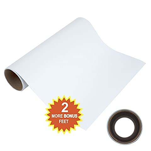 WEEDS EASILY WHITE MATTE ADHESIVE VINYL 30.5cm X 2.4m ROLL of Non-Stretchy, Made in USA for Cricut, Silhouette Cameo, Oracal Vinyl Cutters, Printers, Letters, Decals, Signs by Angel
