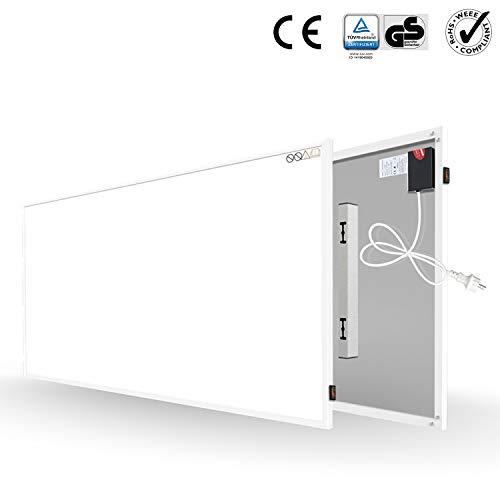 Byecold Infrarotheizung mit Schalter 700W Elektrische Wandheizung Infrarot Heizplatte Wandmontage Energiesparend Überhitzungsschutz Carbon Crystal Heizgerät mit RoHS CE GS