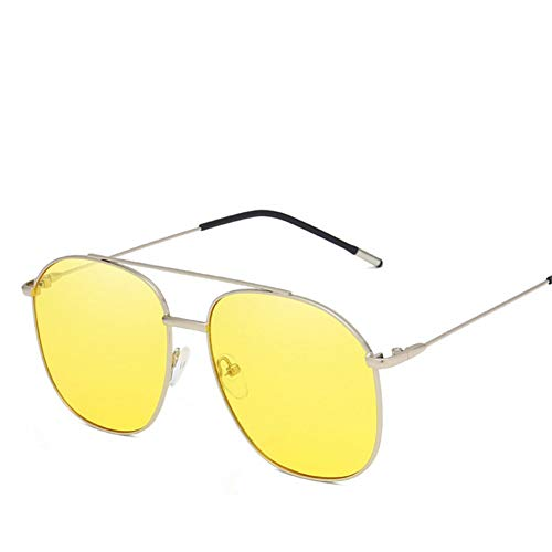 Wenkang Fashion Metal Frame Sunglasses for Men Designer Anti-Uv Sunglass Women Glasses Vintage Eyewear,5