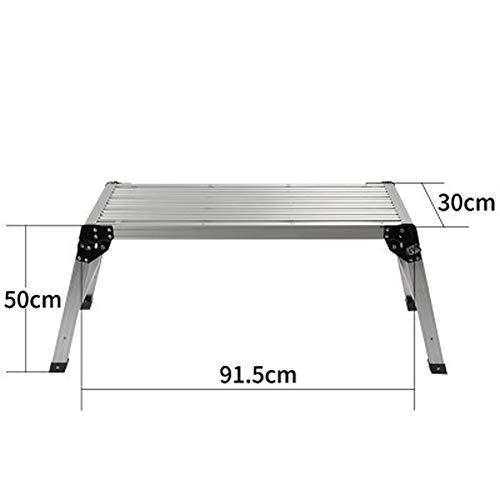 AINIYF Tritthocker Tragbare leichte, faltbare Trittfläche aus Stahl mit rutschfesten Gummifüßen und 330lbs Kapazität (größe : C)