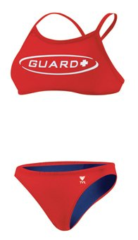 TYR Guard Sport Competitor Workout Bikini, Damen, rot - Tyr Guard