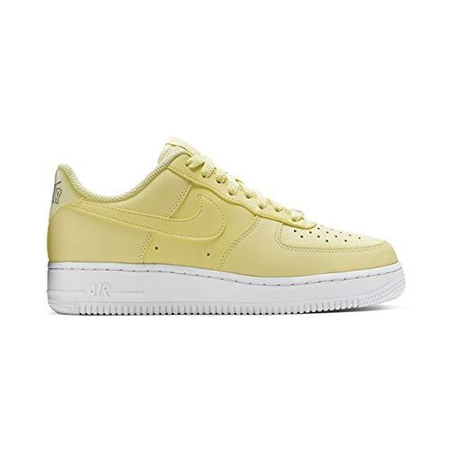 Nike Damen WMNS Air Force 1 '07 ESS Basketballschuhe, Gelb Bicycle Yellow/Dk Sulfur/White 701, 37 1/2 EU