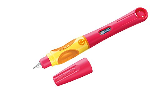 Pelikan 928010 Füllhalter griffix, Rot, für Rechtshänder, mit Drehkappe