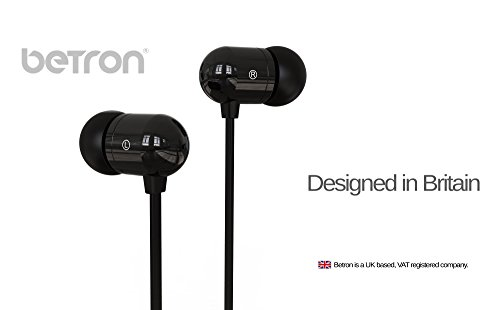 Betron-B750s-Earphones-Headphones-High-Definition-in-ear-Tangle-Free-Noise-Isolating-HEAVY-DEEP-BASS-for-iPhone-iPod-iPad-MP3-Players-Samsung-Galaxy-Nokia-HTC-Nexus-BlackBerry-etc-Black
